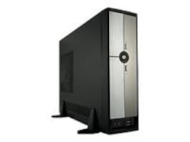 Rosewill Chassis, R379-M Micro Tower MicroATX 2x3.5 Bays 1x5.25 Bay 4xLP Slots 1xFan 300W, Black Silver, R379-M, 16653719, Cases - Systems/Servers