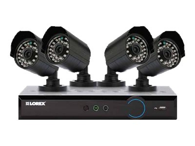 Lorex 4-Channel Eco Blackbox3 960H 500GB Cloud DVR with (4) Cameras, LH03045GC4PM, 17470711, Video Capture Hardware