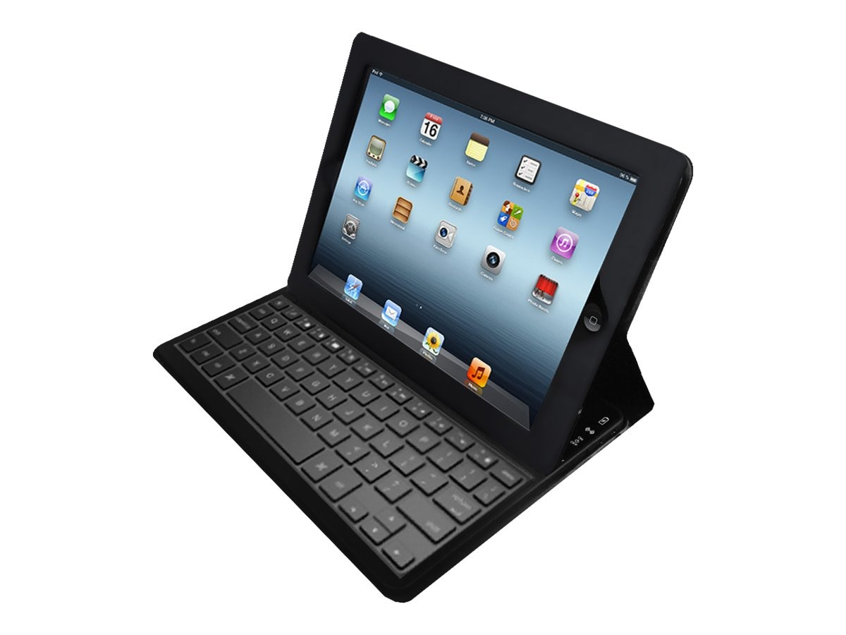 Adesso Compagno Air Bluetooth 3.0 Scissor-Switch Keyboard & Folio Case for iPad Air, WKB-1020DB
