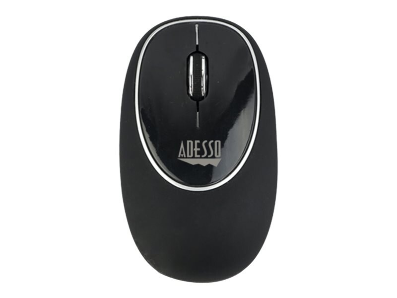 Adesso Wireless Anti-Stress Gel Mouse, Black