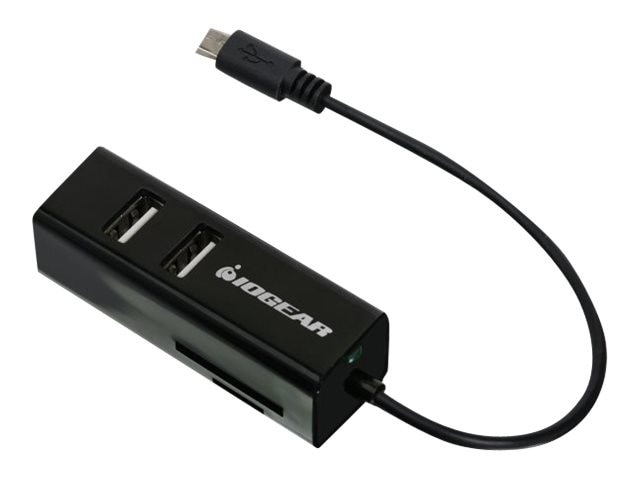 IOGEAR On-the-Go USB Card Reader Hub, GOFRH202, 17900911, PC Card/Flash Memory Readers