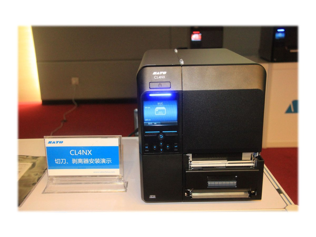 Sato CL408NX WLAN Printer w  Dispenser