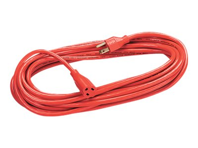 Fellowes 3-Prong Indoor Outdoor Extension Cord 1-Outlet HD Orange 25ft, 99597, 5873425, Power Cords
