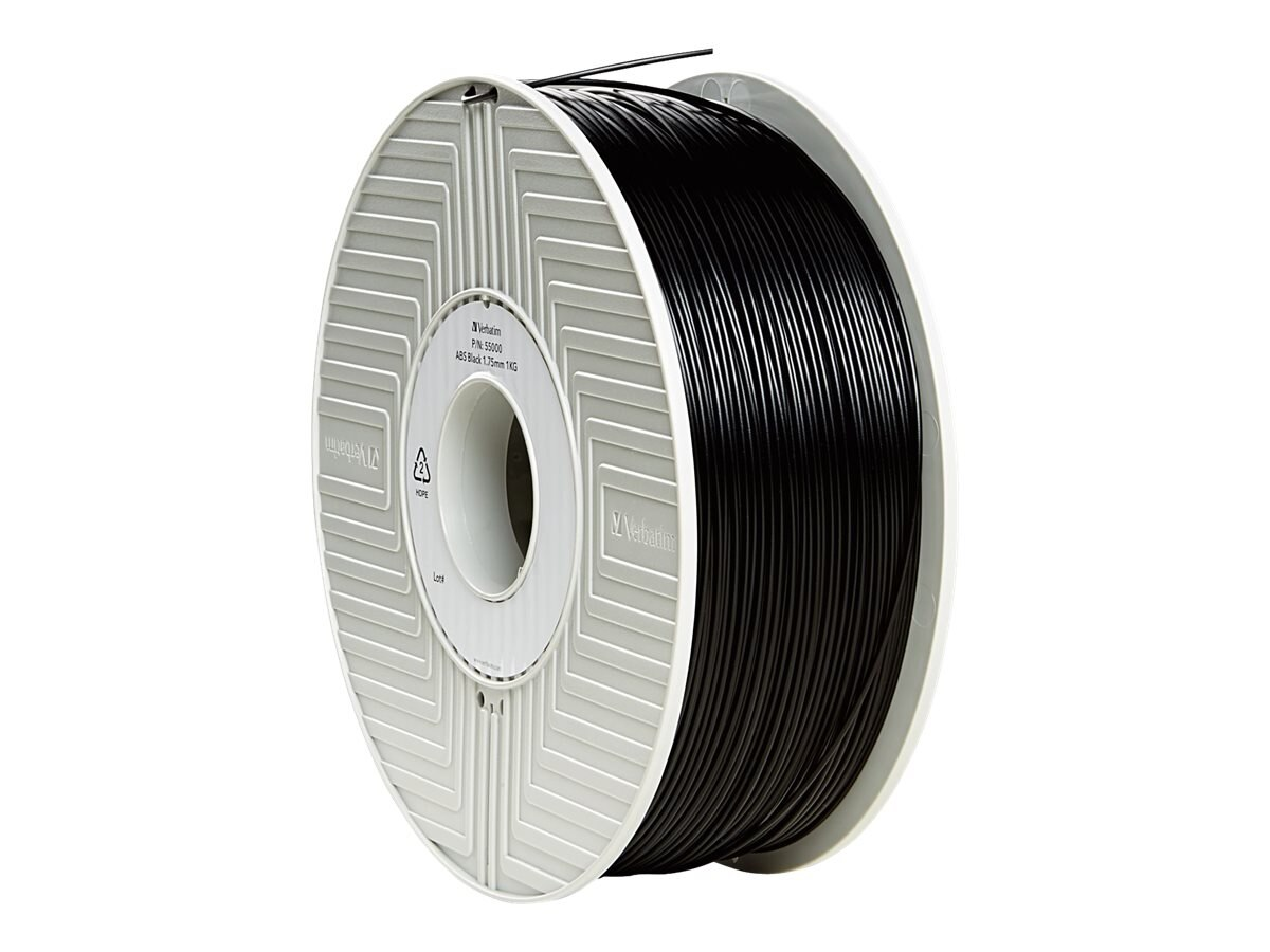 Verbatim Black 1.75mm ABS 3D Filament 1KG Reel, 55000