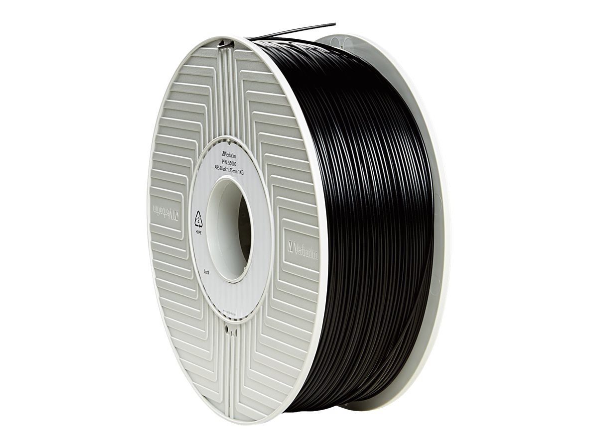 Verbatim Black 1.75mm ABS 3D Filament 1KG Reel, 55000, 30783384, Printer Supplies - 3D