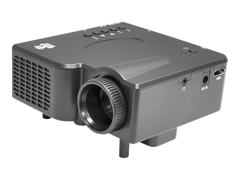 Pyle PRJG45 Mini LED Theater Projector, 40 Lumens, Gray