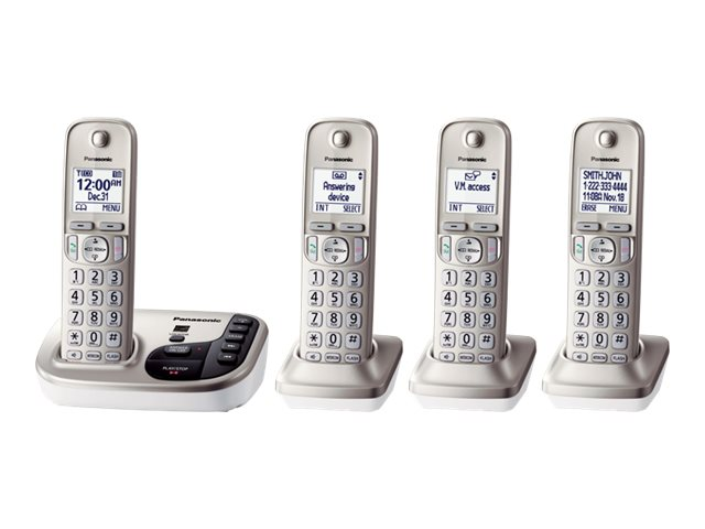 Panasonic Expandable Cordless Digital Phone w  Answering Machine & (4) Handsets, KX-TGD224N