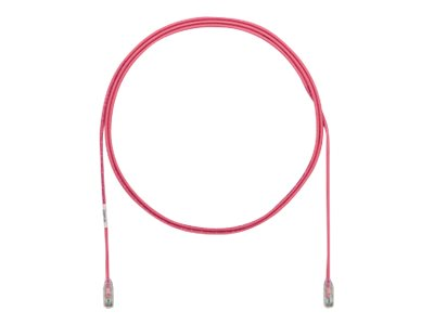 Panduit Cat6e 28AWG UTP CM LSZH Copper Patch Cable, Pink, 90ft