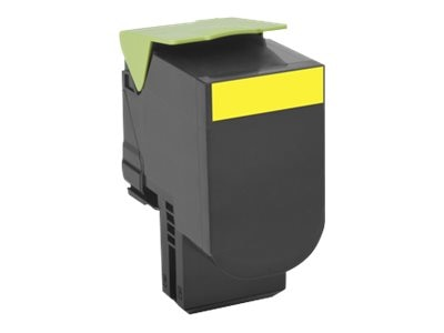 Lexmark 701HY Yellow High Yield Return Program Toner Cartridge, 70C1HY0, 14909354, Toner and Imaging Components