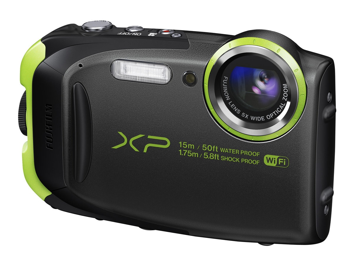 Fujifilm FinePix XP80 Waterproof Shockproof Digital Camera, 16.4MP, 5x Zoom, Graphite Black, 16449624, 18483910, Cameras - Digital - Point & Shoot