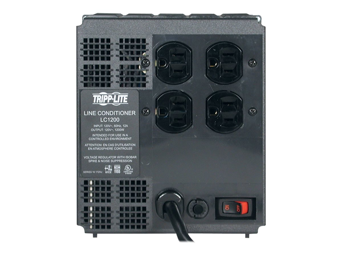 Tripp Lite 1200W Line Conditioner with AVR, Power Conditioning, (4) Outlet, LC1200