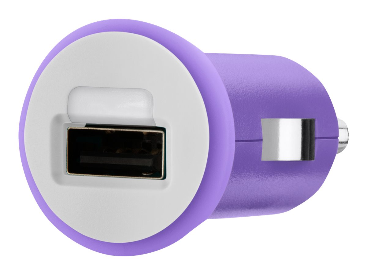 Belkin Mixit Up Car Charger 5 Watt 1 Amp, Purple, F8J018TTPUR, 15756231, Automobile/Airline Power Adapters