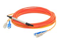 ACP-EP 2x SC 62.5 125 to SC 62.5 125 and SC 9 125 Duplex LSZH Mode Conditioning Cable, Orange, 3m, CAB-GELX-625-AO