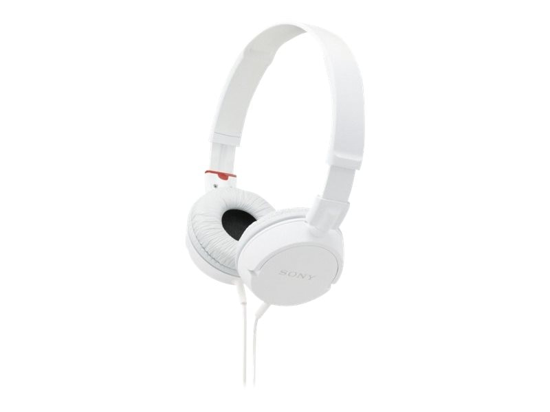 Sony ZX Series Stereo Headphones - White, MDR-ZX100/WHI