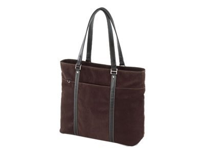 Mobile Edge Chocolate Suede Tote, METL08, 5216450, Carrying Cases - Notebook