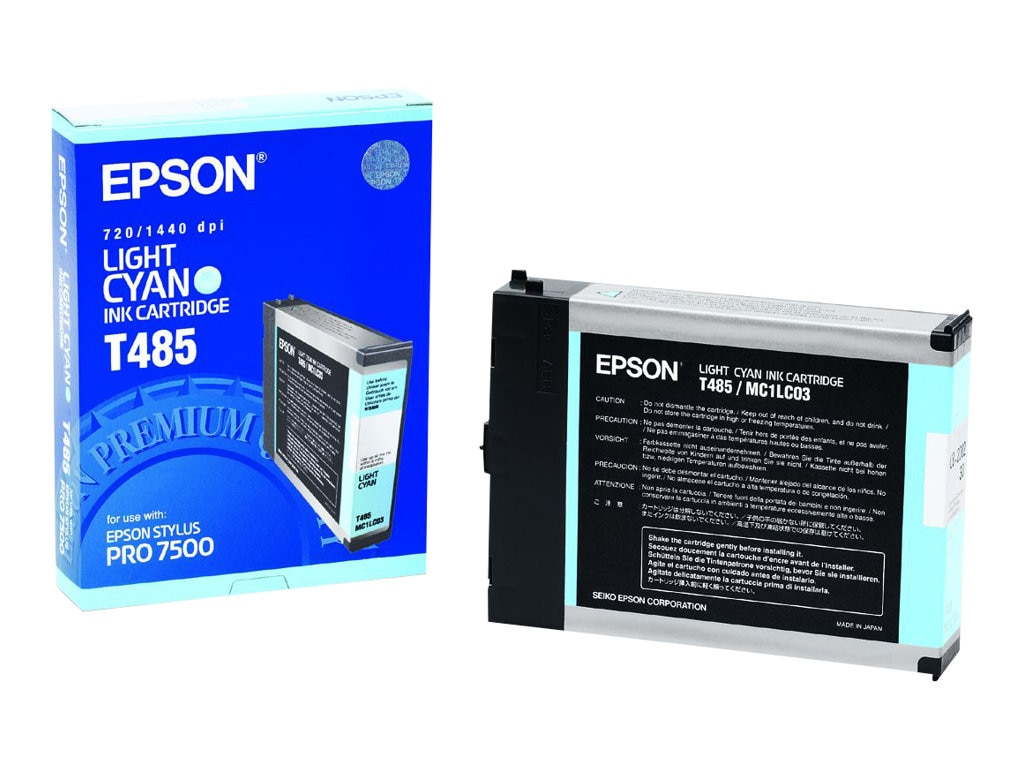 Epson Stylus Pro 7500 Ink Cartridge - Light Cyan, T485011, 193995, Ink Cartridges & Ink Refill Kits