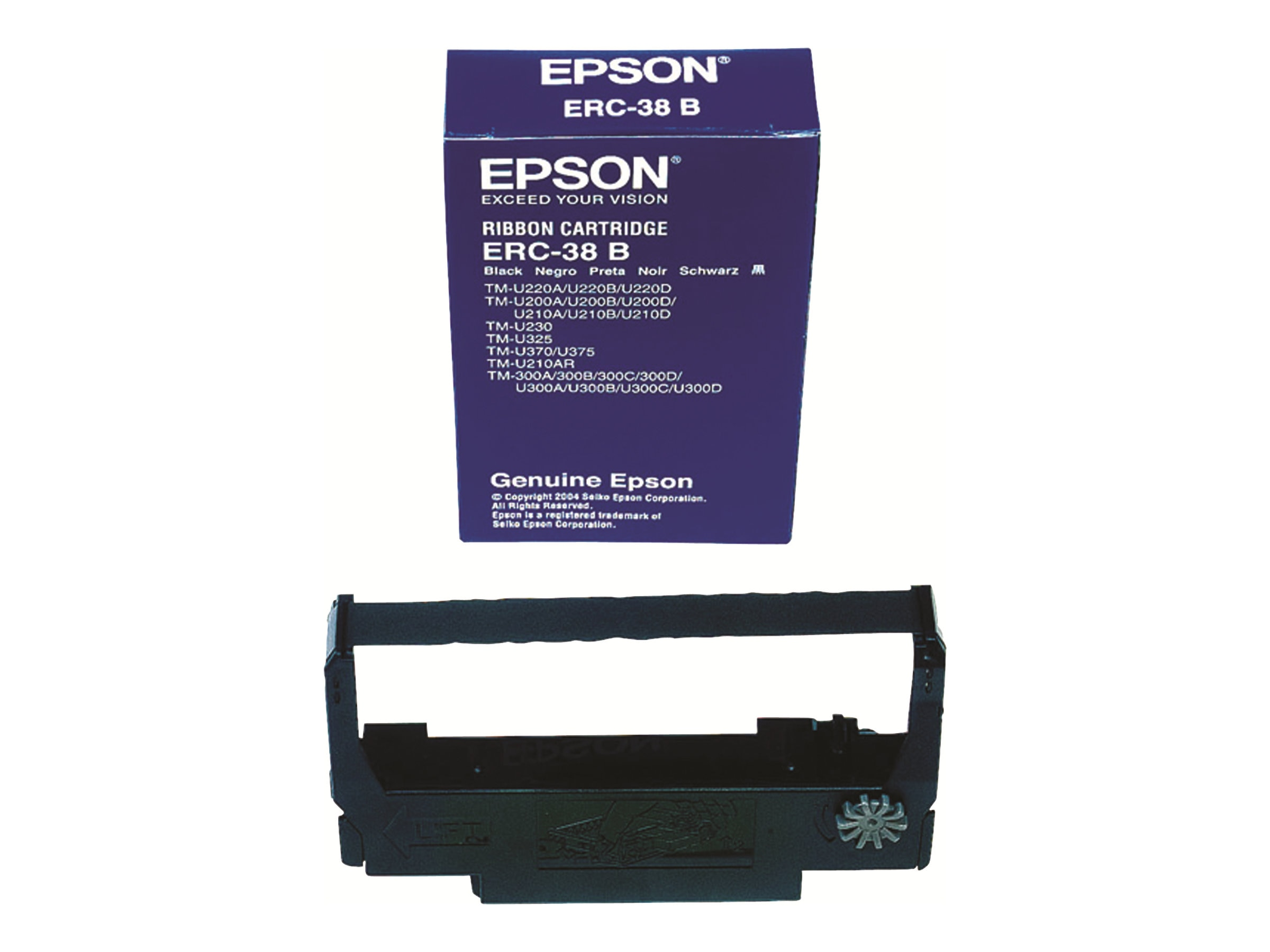Epson Black Epson ERC-38B Nylon Printer Ribbon for POS Printers (10-pack Case), ERC-38B-CASE