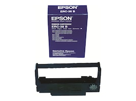 Epson Black Epson ERC-38B Nylon Printer Ribbon for POS Printers (10-pack Case), ERC-38B-CASE, 23206634, Printer Ribbons