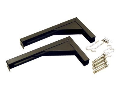 Elite L Bracket Set, Black, ZVMAXLB12-B, 9093160, Projector Screen Accessories