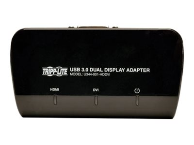 Tripp Lite USB 3.0 to DVI and HDMI Dual Monitor Video Display Adapter, Instant Rebate - Save $4, U344-001-HDDVI, 19251301, Adapters & Port Converters