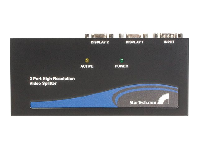 StarTech.com 2-Port High Resolution VGA Video Splitter, 350MHz, ST122PRO