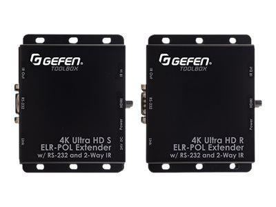 Gefen 4K UltraHD ELR Extender for HDMI, GTB-UHD2IRS-ELRPOL-BLK, 17812275, Video Extenders & Splitters