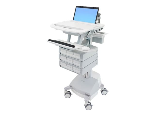 Ergotron StyleView Laptop Cart, SLA Powered, 9 Drawers, SV44-1191-1, 18024852, Computer Carts - Medical