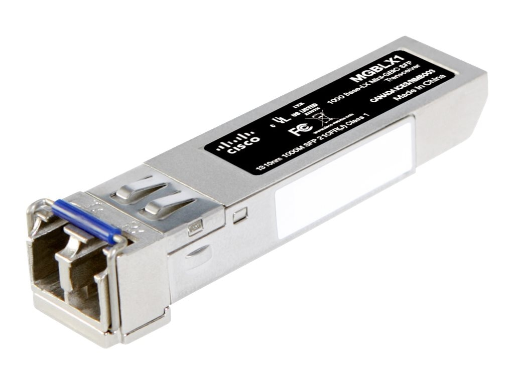 Cisco 1000Base-LX SFP Transceiver for Single-Mode Fiber 1310nm, 10km, MGBLX1, 10192085, Network Transceivers
