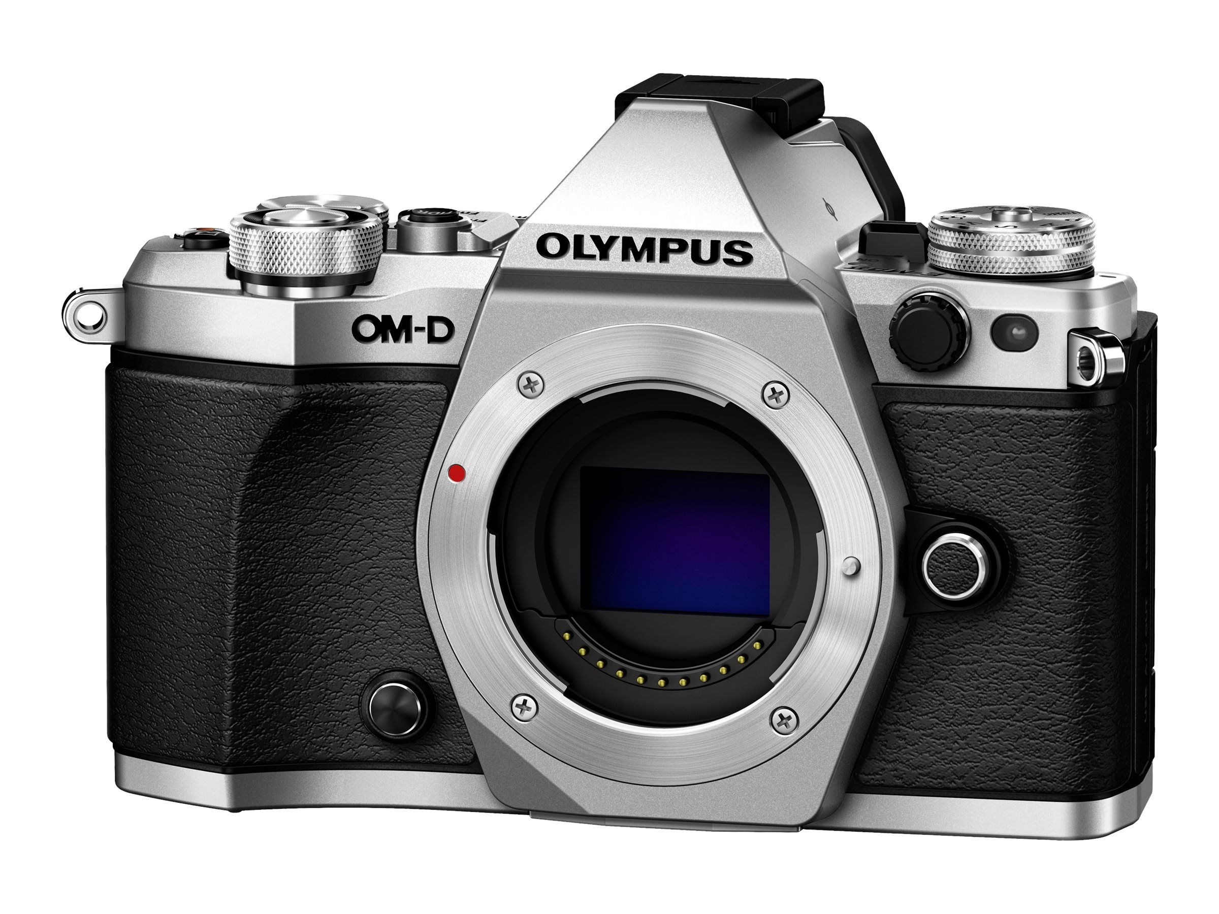 Olympus OM-D E-M5 Mark II Mirrorless Micro Four Thirds Digital Camera, Silver (Body Only), V207040SU000