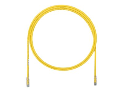 Panduit CAT6A UTP Copper Patch Cable, Yellow, 6ft