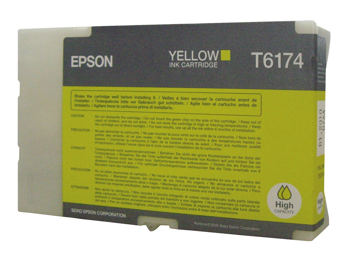 Epson Yellow High Capacity Ink Cartridge for B-500DN Color Business Ink Jet Printer, T617400