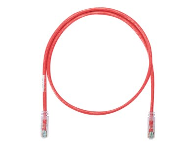 Panduit NetKey CAT6 UTP Copper Patch Cable, Red, 16ft