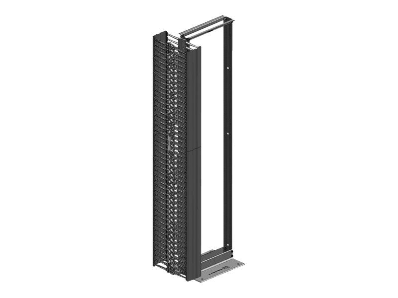 Chatsworth Velocity Standard Pack 45U x 19 EIA Rack, Double-Sided Vertical Cable Manager, 6w, Black