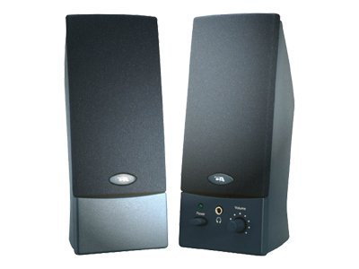 Cyber Acoustics 2-Piece Amplified Computer Speaker System, CA-2011WB, 6841644, Speakers - PC