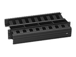 Leviton Horizontal Cable Management, 2U, 3x3 Front and 2x4 Rear, 492RU-HFR, 9307869, Rack Cable Management