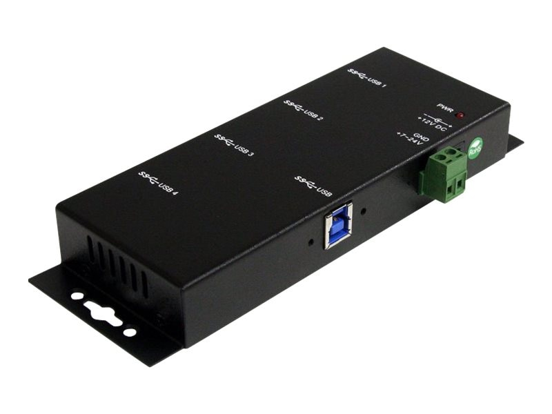 StarTech.com Mountable 4-Port Rugged Industrial SuperSpeed USB 3.0 Hub, ST4300USBM, 12252264, USB & Firewire Hubs