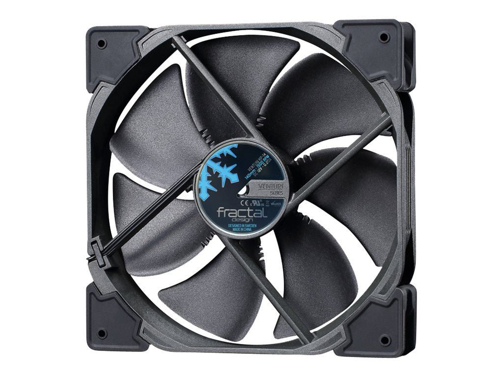 Fractal Design Venturi HP-14 PWM 140mm Fan, Black, FD-FAN-VENT-HP14-PWM-BK