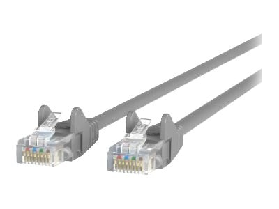 Belkin Cat5e Patch Cable, Gray, Snagless, 4ft