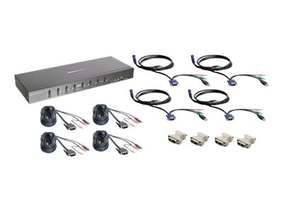IOGEAR 8-Port KVM Kit w  VGA Support Dual Link DVI, GCS1208KIT2