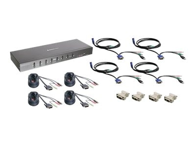 IOGEAR 8-Port KVM Kit w  VGA Support Dual Link DVI, GCS1208KIT2, 15568918, KVM Switches