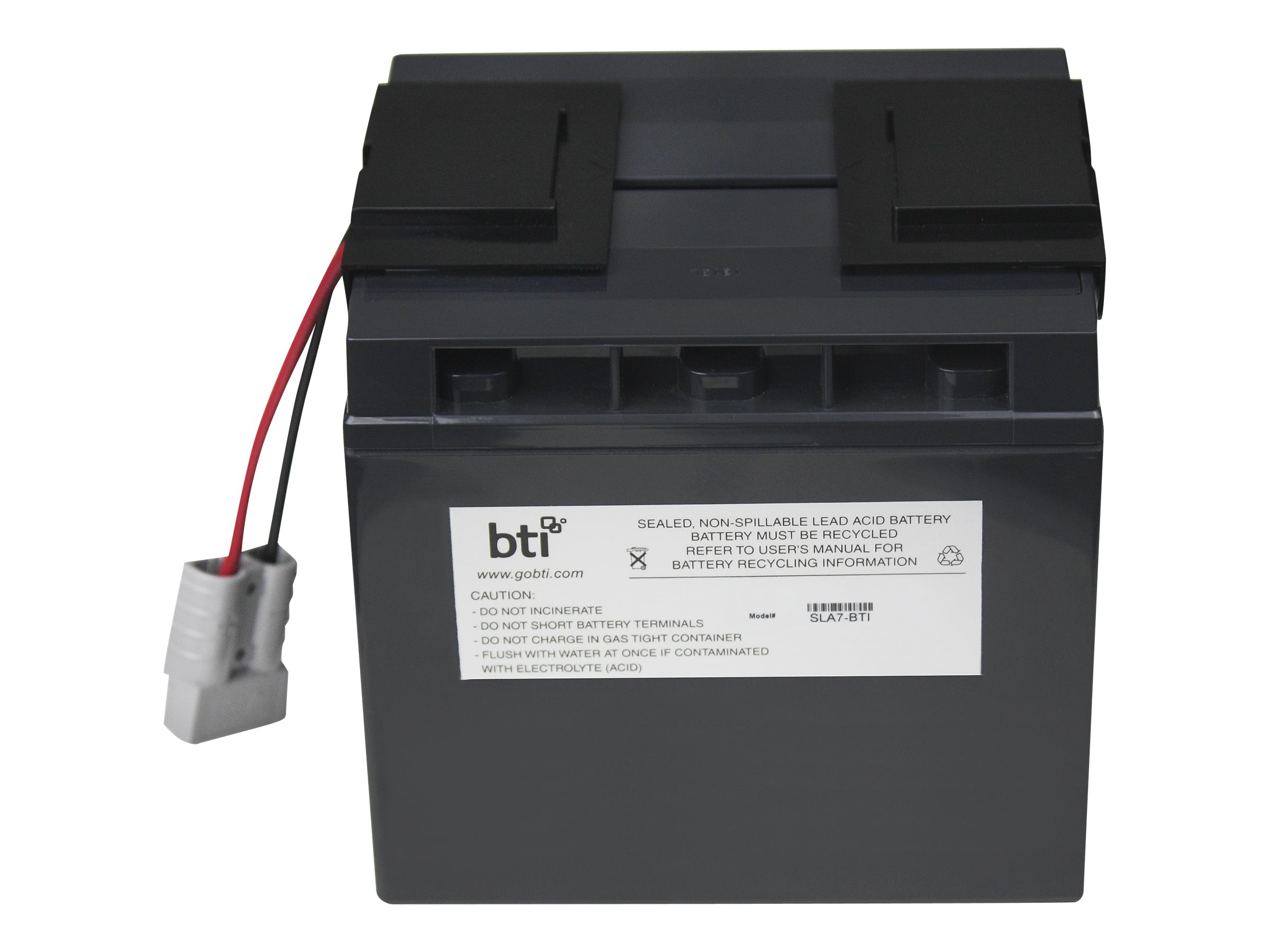 BTI Replacement Battery, RBC7, for APC SU700XL, SU1000XL, BP1400, SU1400 Models, RBC7-SLA7-BTI