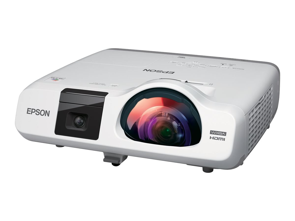 Epson BrightLink 536Wi Interactive WXGA 3LCD Projector, 3400 Lumens, White, V11H670022