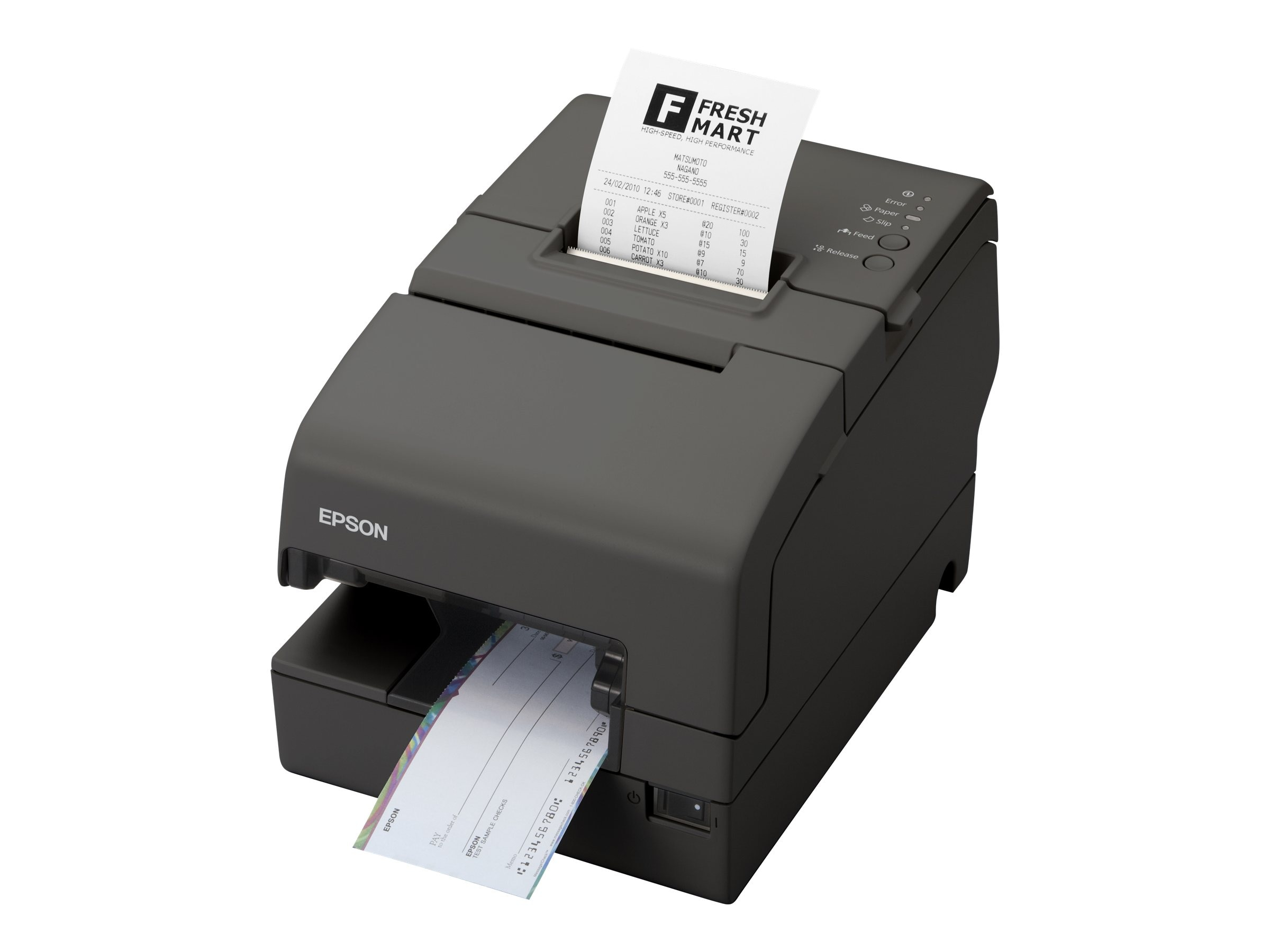 Epson TM-H6000IV MICR Ethernet USB Printer w  Edge & Drop In Validation, C31CB25A7881