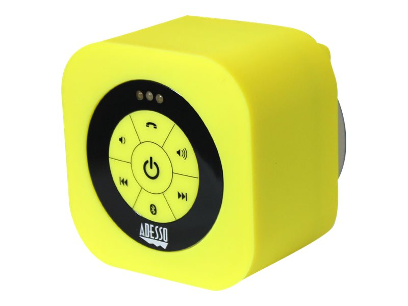 Adesso Waterproof Bluetooth Speaker - Yellow, XTREAMS1Y, 17456063, Speakers - Audio