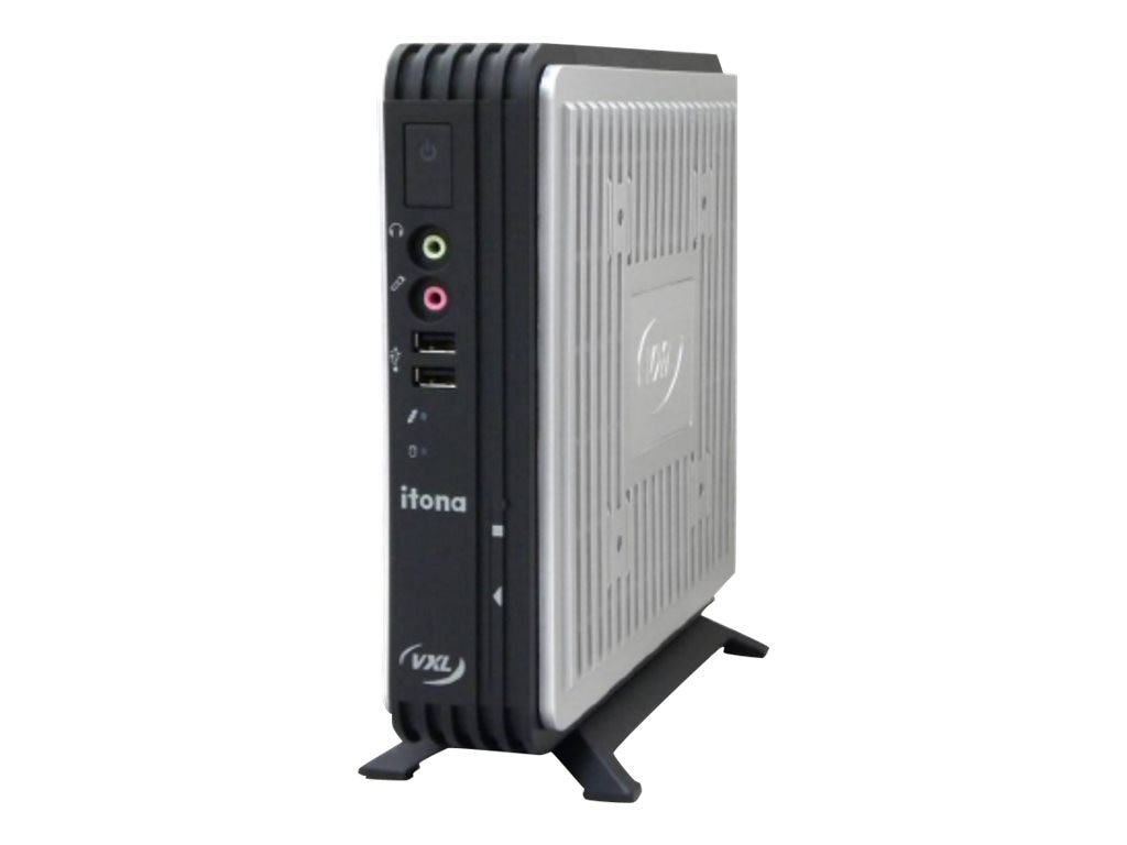 Vxl Itona MD65 Thin Client VIA Eden DC U4200 1.0GHz 2GB RAM 8GB Flash GbE Gio6 Linux, MD64-F9R7-W3, 20336548, Thin Client Hardware