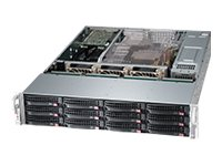 Supermicro SuperChassis 826BE26 2U RM (2x)Intel AMD 12x3.5 HS Bays 3xFans 2x920W RPS, CSE-826BE26-R920UB, 15274291, Cases - Systems/Servers