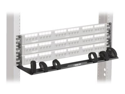 Black Box Zero U-Height Cable Manager, Black, 10-Pack