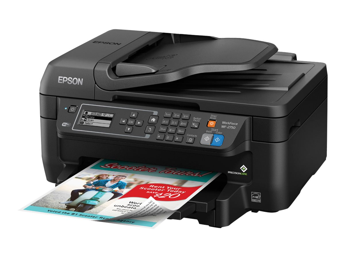 Epson WorkForce WF-2750 All-In-One Printer, C11CF76201