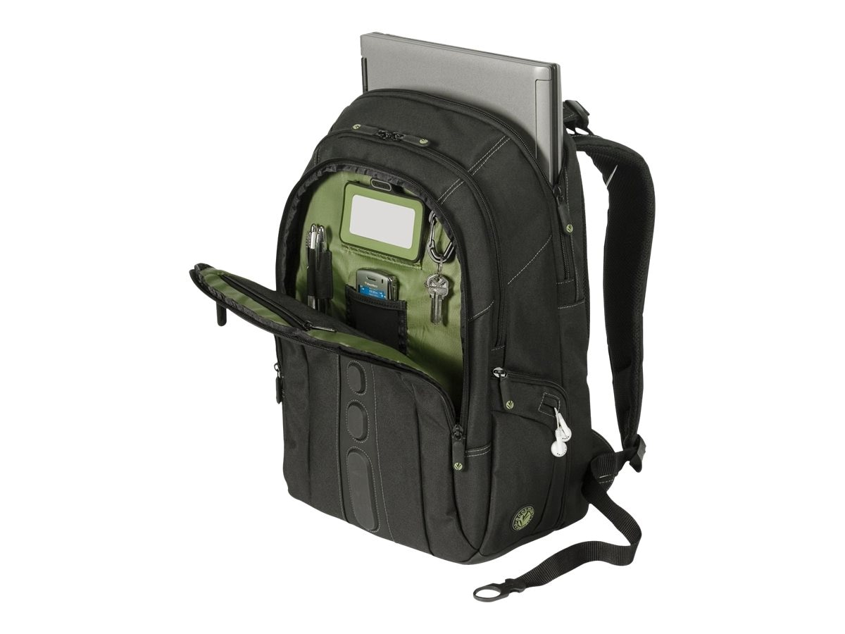 Targus Spruce EcoSmart 15.6 Backpack, Black Green, TBB013US