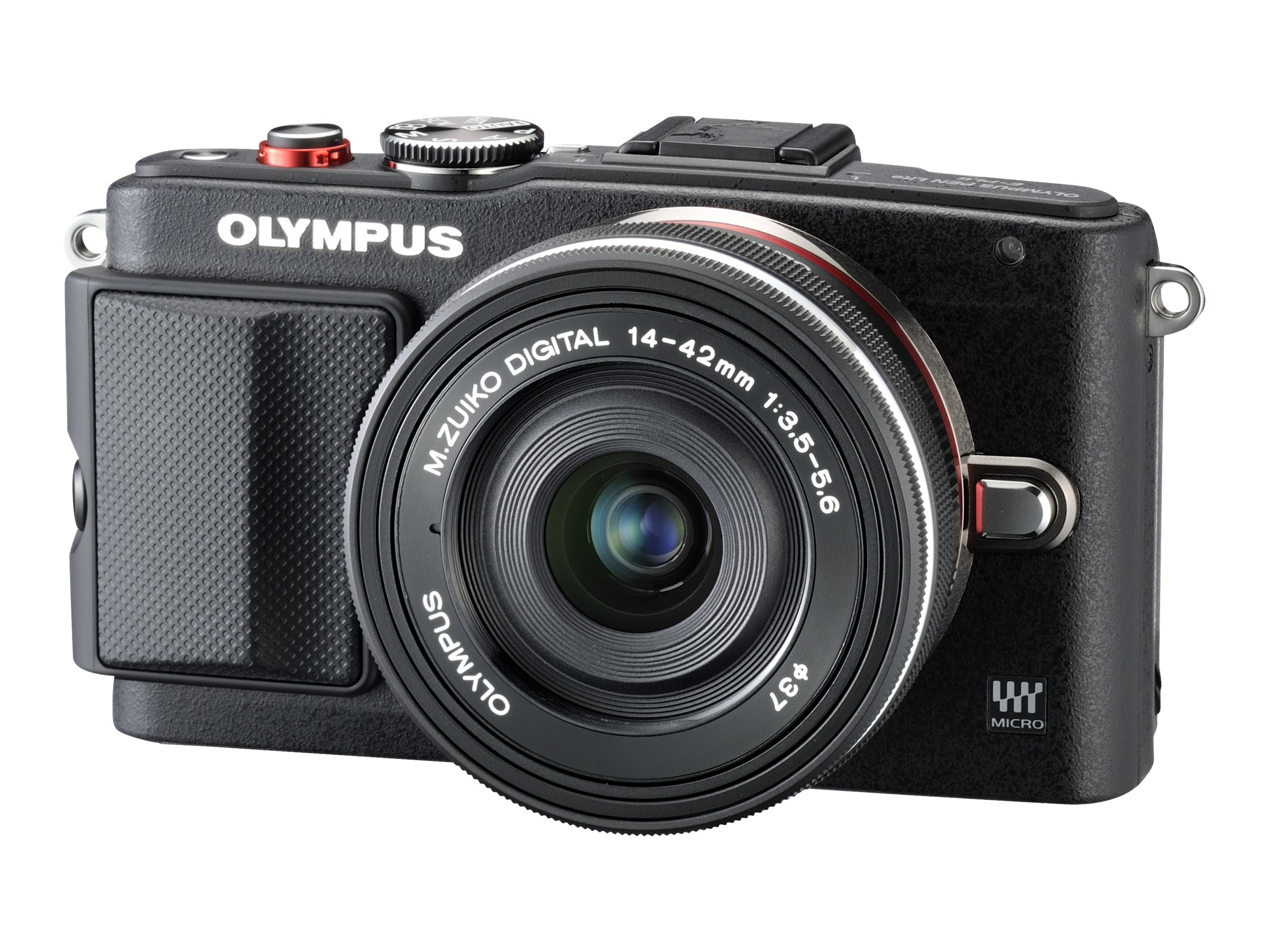 Olympus E-PL6 Mirrorless Digital Camera with 14-42mm f 3.5 II Lens, Black, V205051BU000, 19857979, Cameras - Digital - SLR
